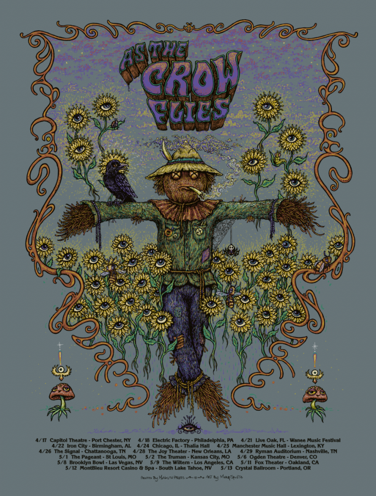 As The Crow Flies - Tour Poster