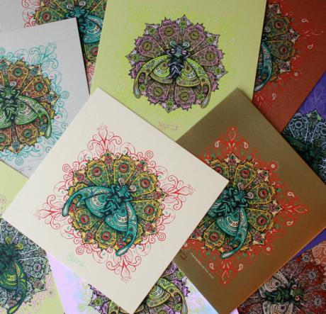Bliss Bug mini prints