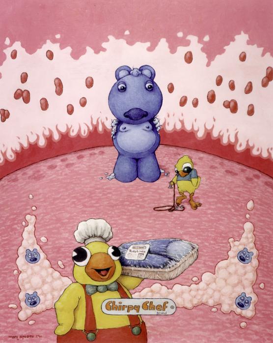 Boo Boo's Blue oil on canvas