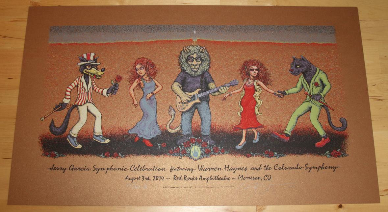 Jerry Garcia Symphonic Celebration Red Rocks poster - Artist Edition