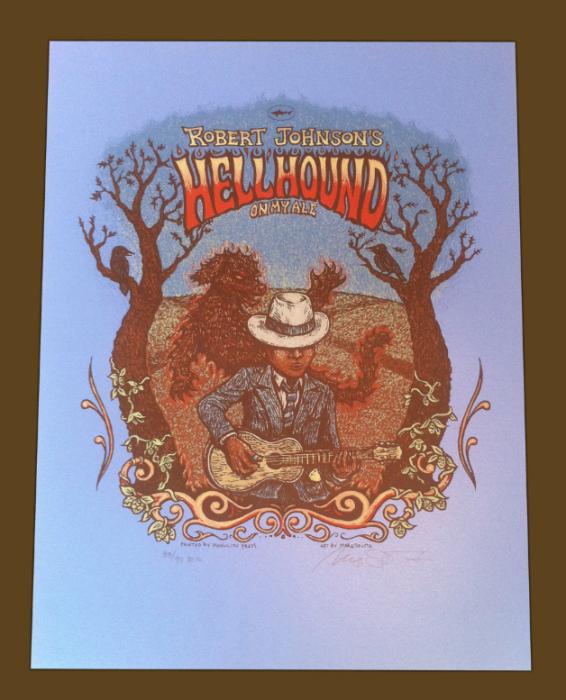 Robert Johnson\'s Hellhound Print