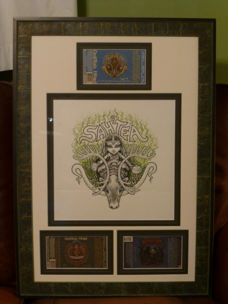Sah'Tea Original Art and DH labels