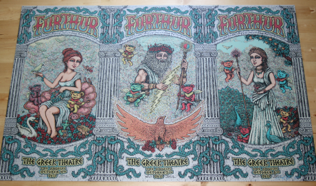 Furthur LA greek 3 poster uncut sheet