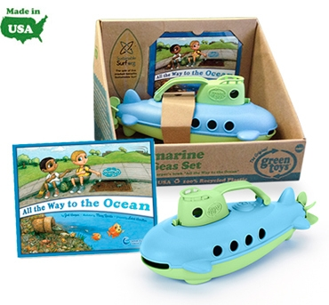 Green Toys includes mini All the Way to the Ocean book