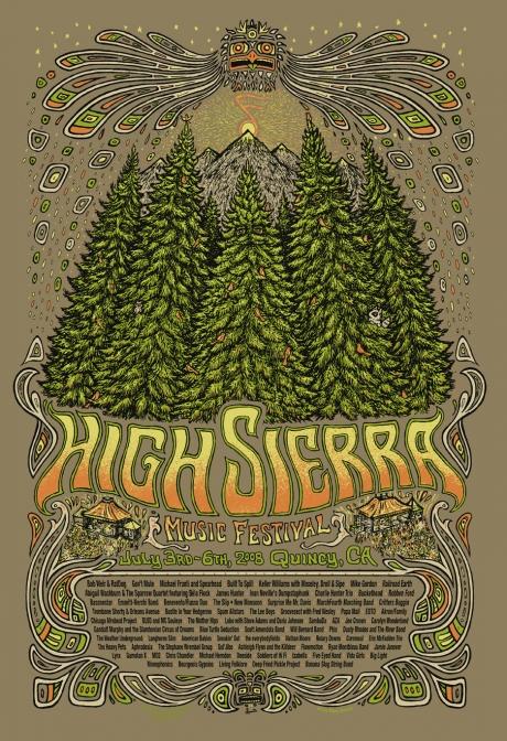 High Sierra Music Festival Poster