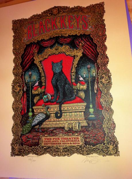 The Black Keys Oakland (edition of 280)=$100