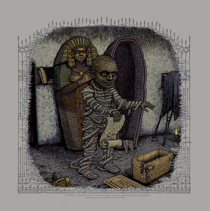 The Mummy (Universal Classic Monsters) - screen print