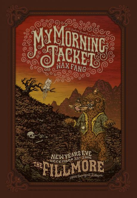My Morning Jacket Fillmore Poster NYE