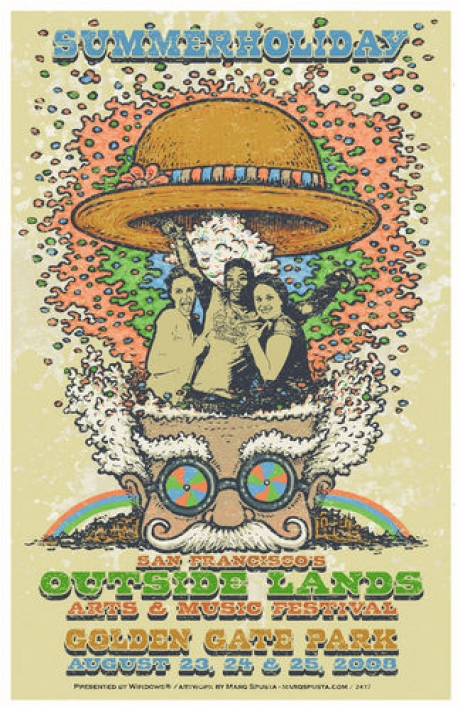 Outside Lands Festival - Golden Gate Park - Customizable Fan Poster