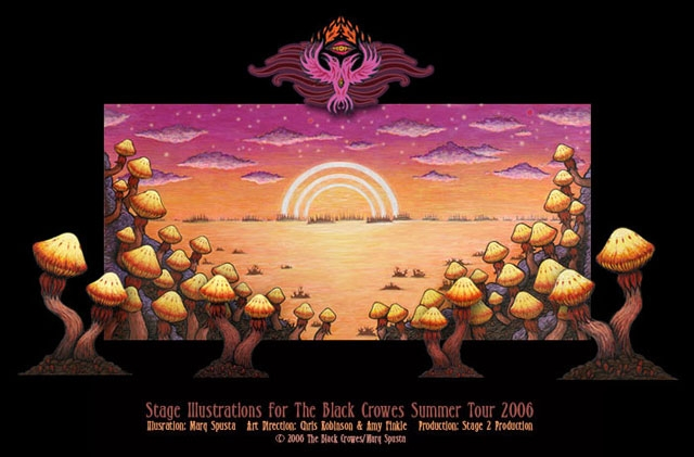 The Black Crowes Stage Illustrations