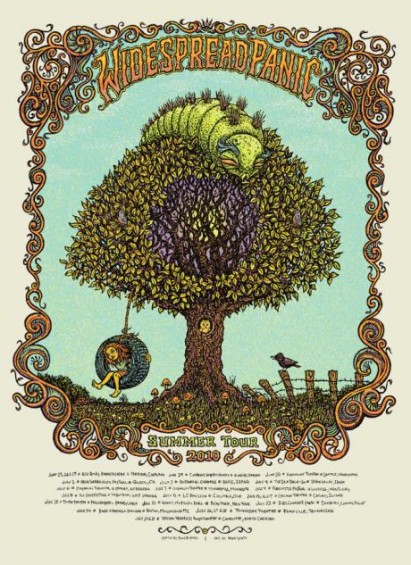 Widespread Panic Summer Tour Poster