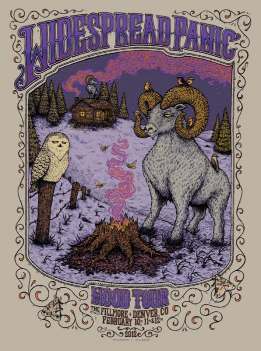 Widespread Panic - Wood Tour - Denver poster