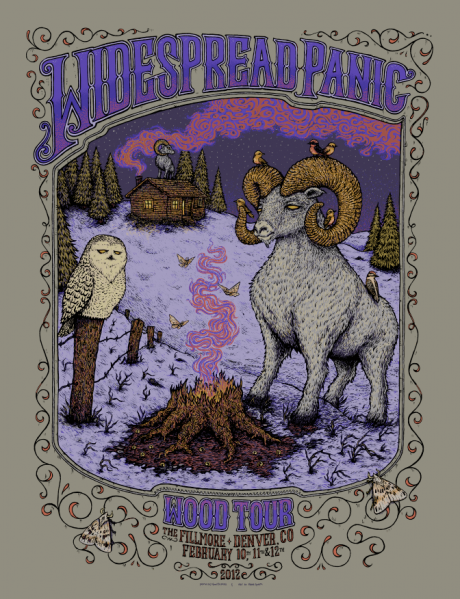 Widespread Panic - Wood Tour - Denver poster