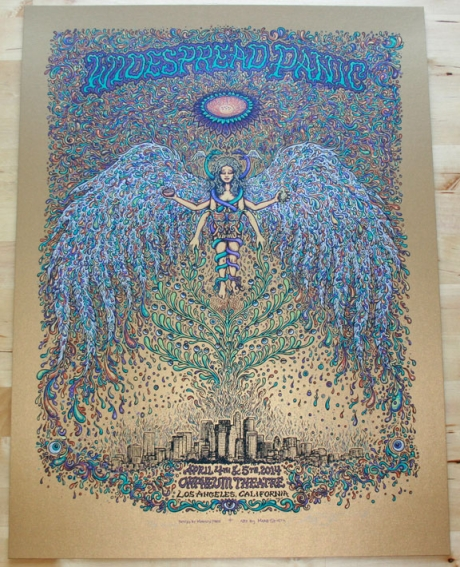 Widespread Panic - Los Angeles Poster Old Gold Edition