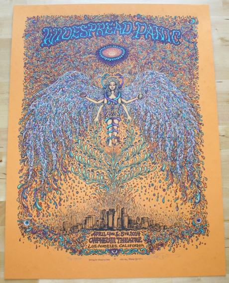Widespread Panic - Los Angeles Poster Orange Edition