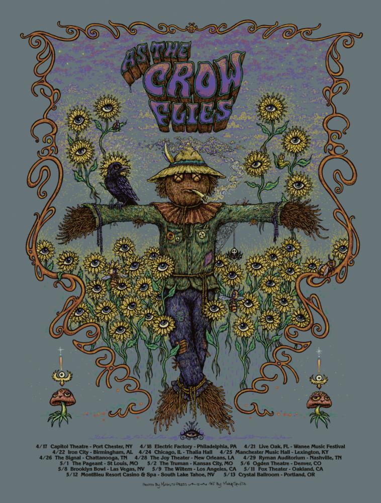 As The Crow Flies - Tour Poster