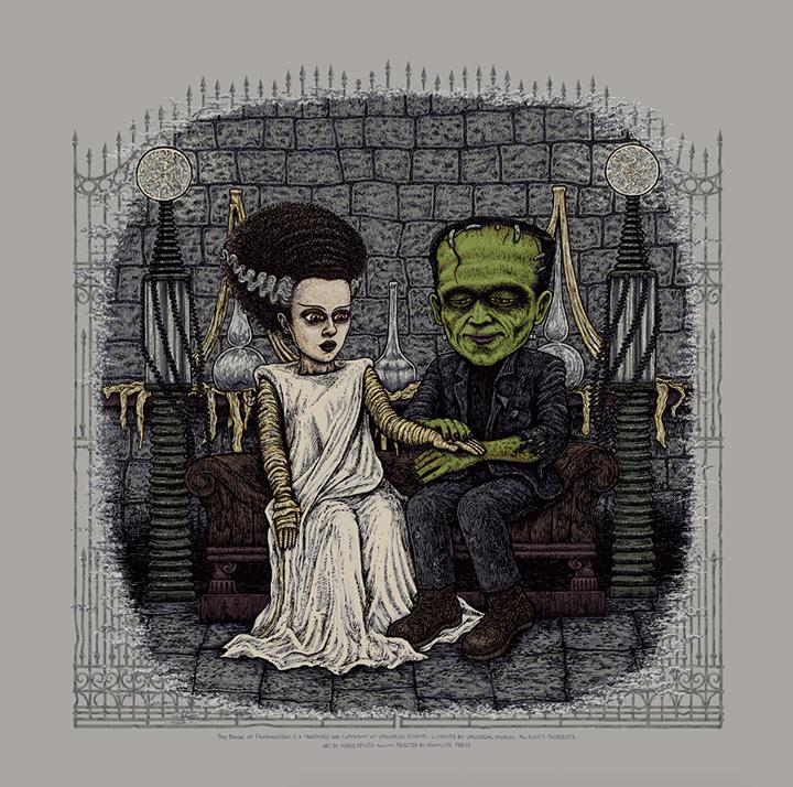 The Bride of Frankenstein (Universal Classic Monsters) screen print